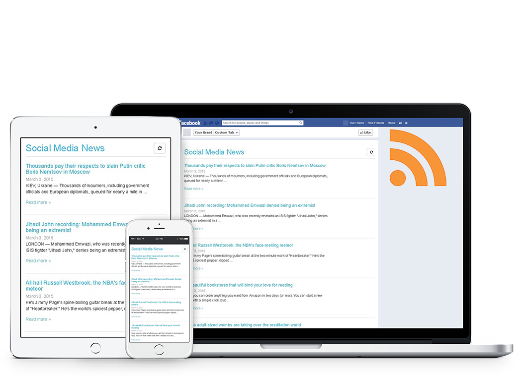 Display an rss feed on your facebook page